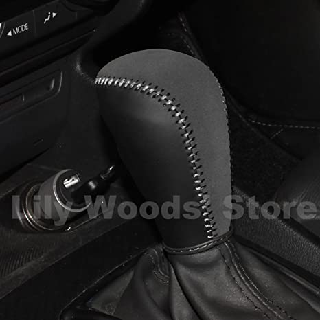 Loncky Genuine Leather Gear Shift Knob Cover For 2016 2017 Mazda CX 3 CX3 /
