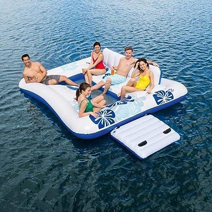 C-GRMM Fila de Agua Flotante Natación 5-6 Personas Uso Cuadrado ...