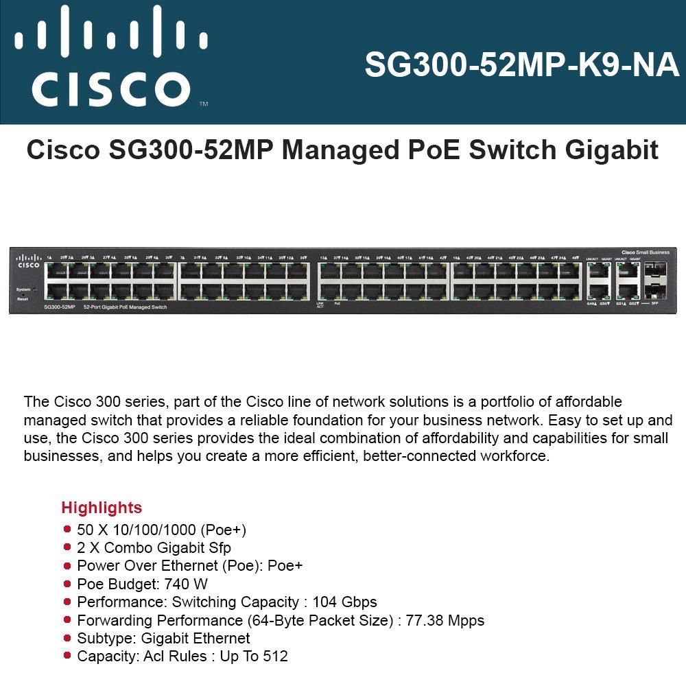 人気の春夏 Cisco Small Business SG300-52MP - ports switch Small - switch 52 ports - managed - desktop, rack-mountable by Cisco B00YVEJHXW, 割引クーポン:a46044d0 --- ballyshannonshow.com