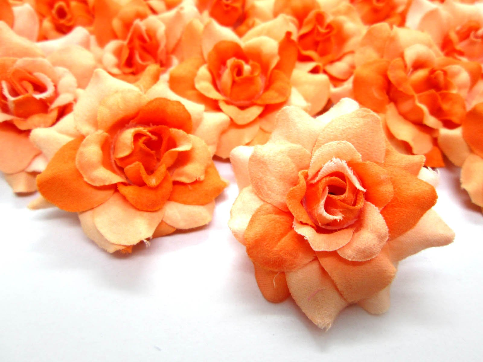 24-Silk-Two-tone-Orange-Roses-Flower-Head-175-Artificial-Flowers-Heads-Fabric-Floral-Supplies-Wholesale-Lot-for-Wedding-Flowers-Accessories-Make-Bridal-Hair-Clips-Headbands-Dress