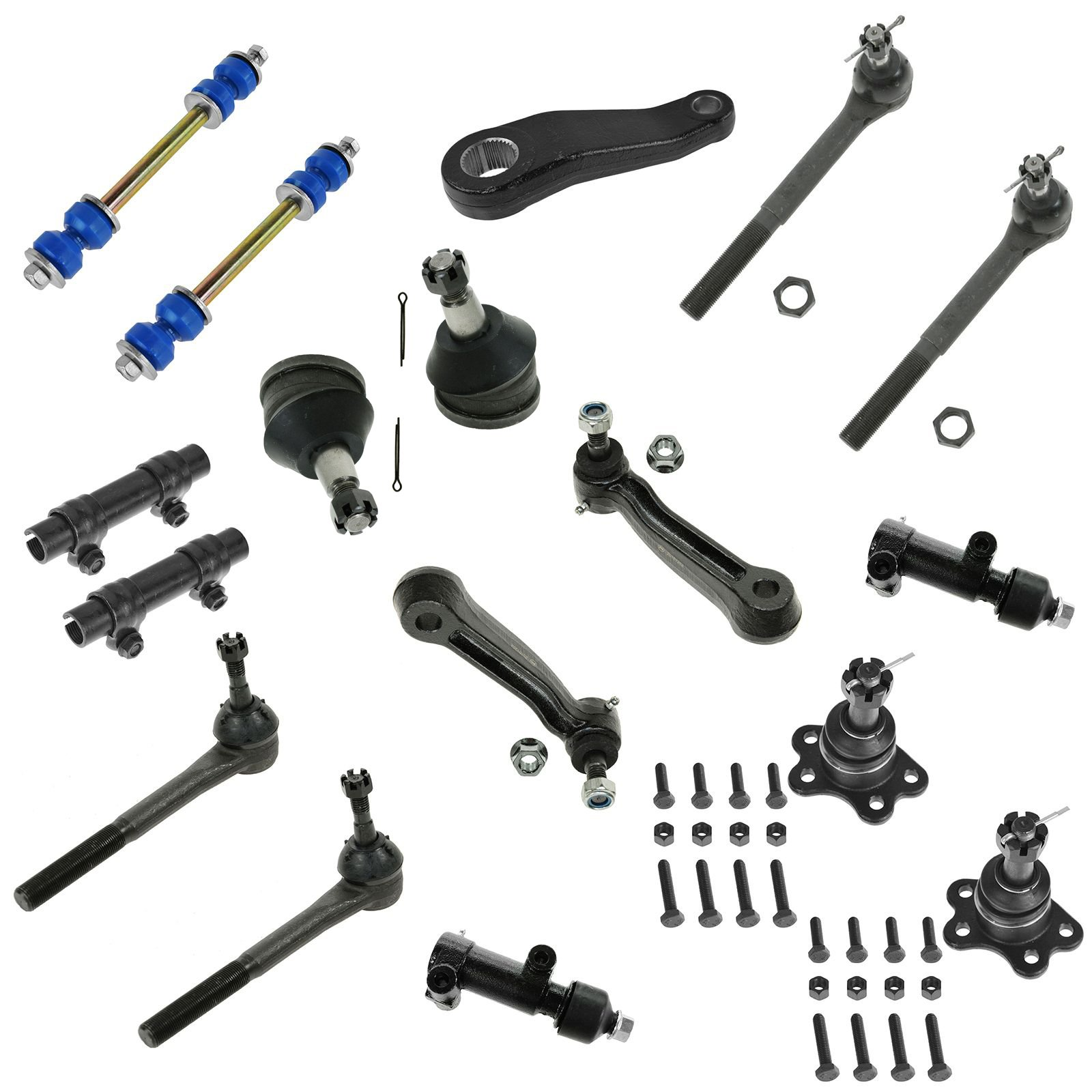 17 Piece Steering & Suspension Kit Ball Joints Tie Rods Idler Arm Sway Bar Links for Chevy Express 1500 Van Express 2500 Van GMC Savana 2500 Van by TRQ