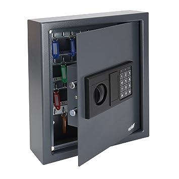 HMF 2048-11 Caja Fuerte para Llaves 48 Ganchos, con Cerradura Electrónica, 36 x 30 x 10 cm, antracita: Amazon.es: Oficina y papelería
