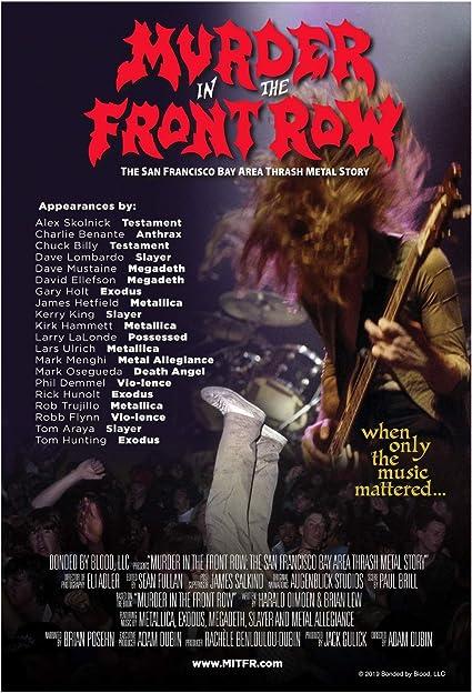 Murder in the Front Row Póster documental 26.5 Pulgadas x 39 Pulgadas - San Francisco Bay Area Thrash Metal Story