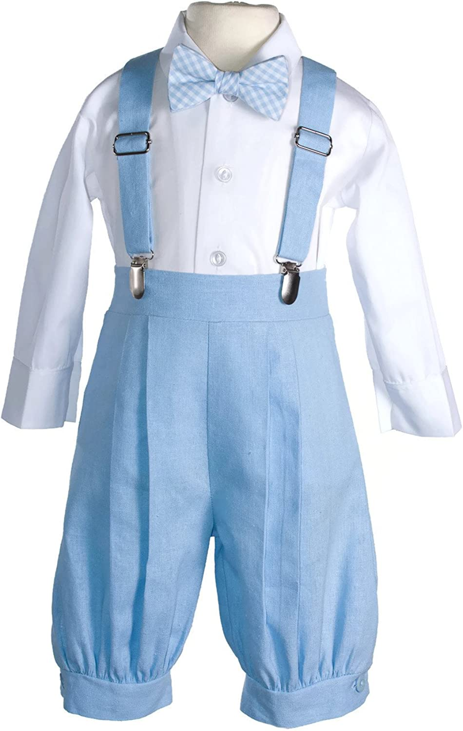 Tuxgear Boys Linen Vintage Knicker Outfit with Suspenders and Hat