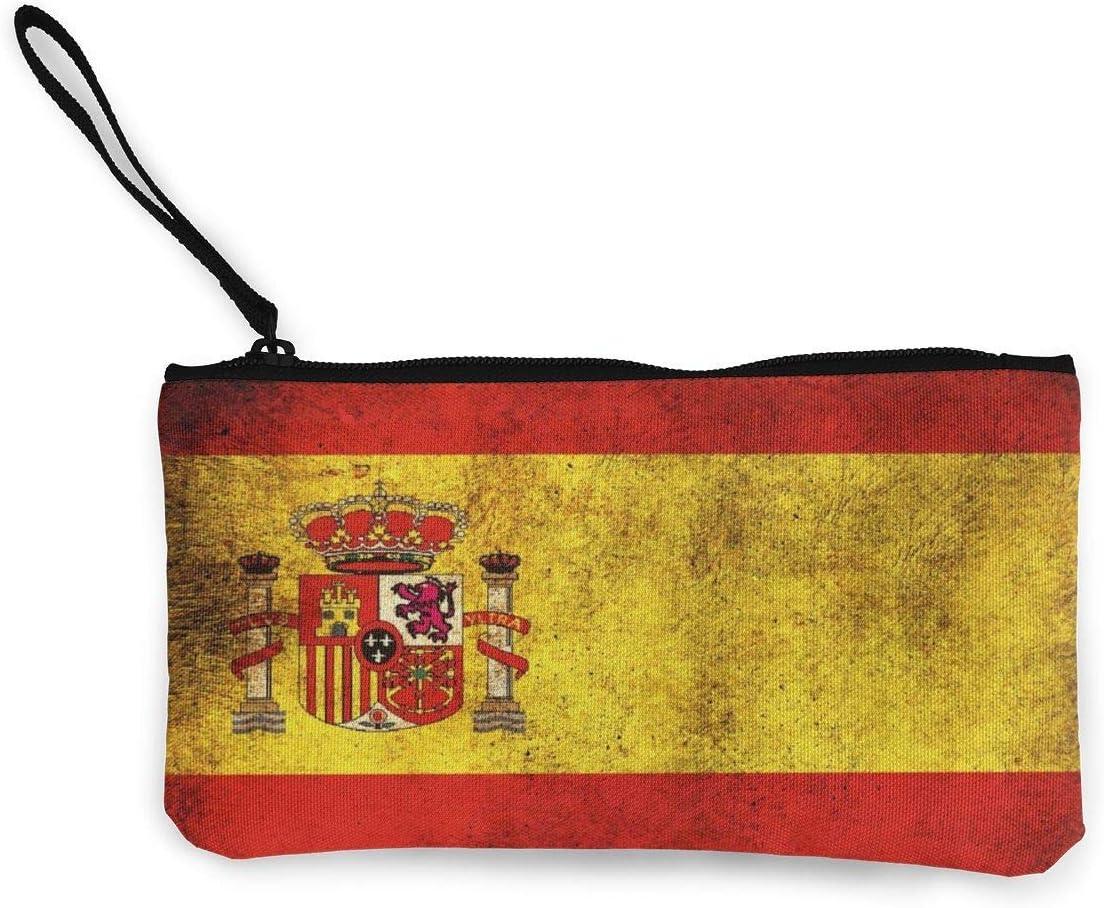 Cartera de Embrague de Pulsera pequeña para Mujer Cartera de Embrague con Bandera de España Vintage Organizador de Embrague Pulsera de teléfono Inteligente: Amazon.es: Equipaje