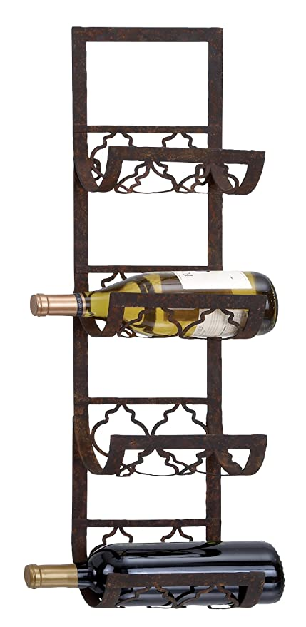 Image Unavailable Not Available For Color Deco 79 Metal Wall Wine Rack