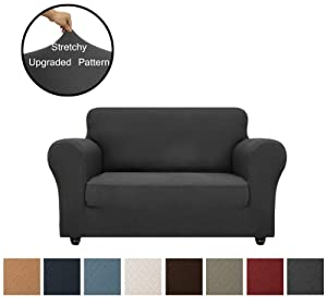 Obytex Loveseat Cover High Stretch 1-Piece Premium Slipcovers Furniture Protectors Couch Covers with Elastic Bottom for Both Leather and Cloth Sofa