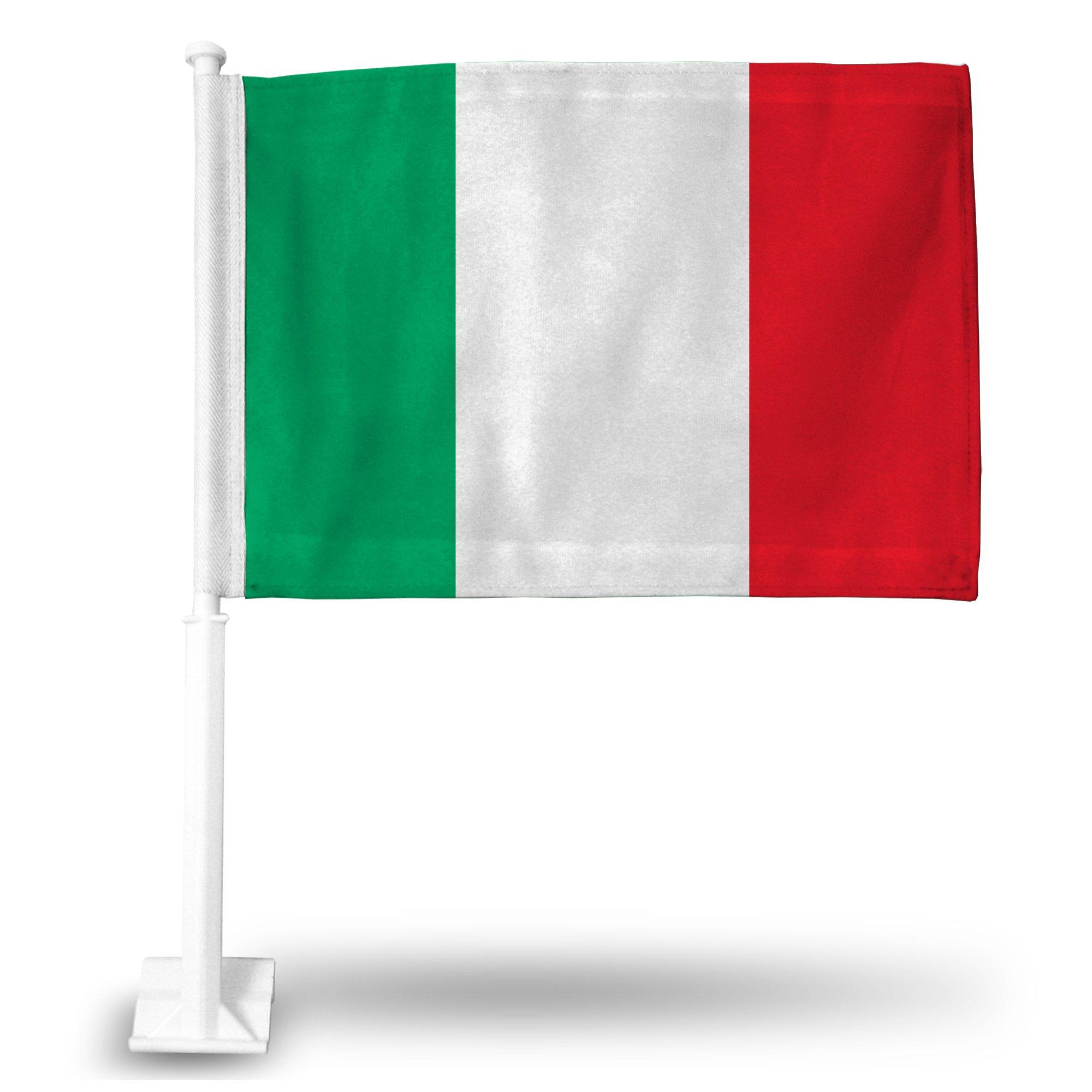 Rico National Soccer Team Car Flag, with White Pole