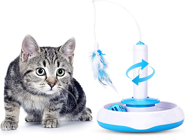 PEDOMUS Juguete Interactivo para Gato rotación de 360 ° y Bola de ...