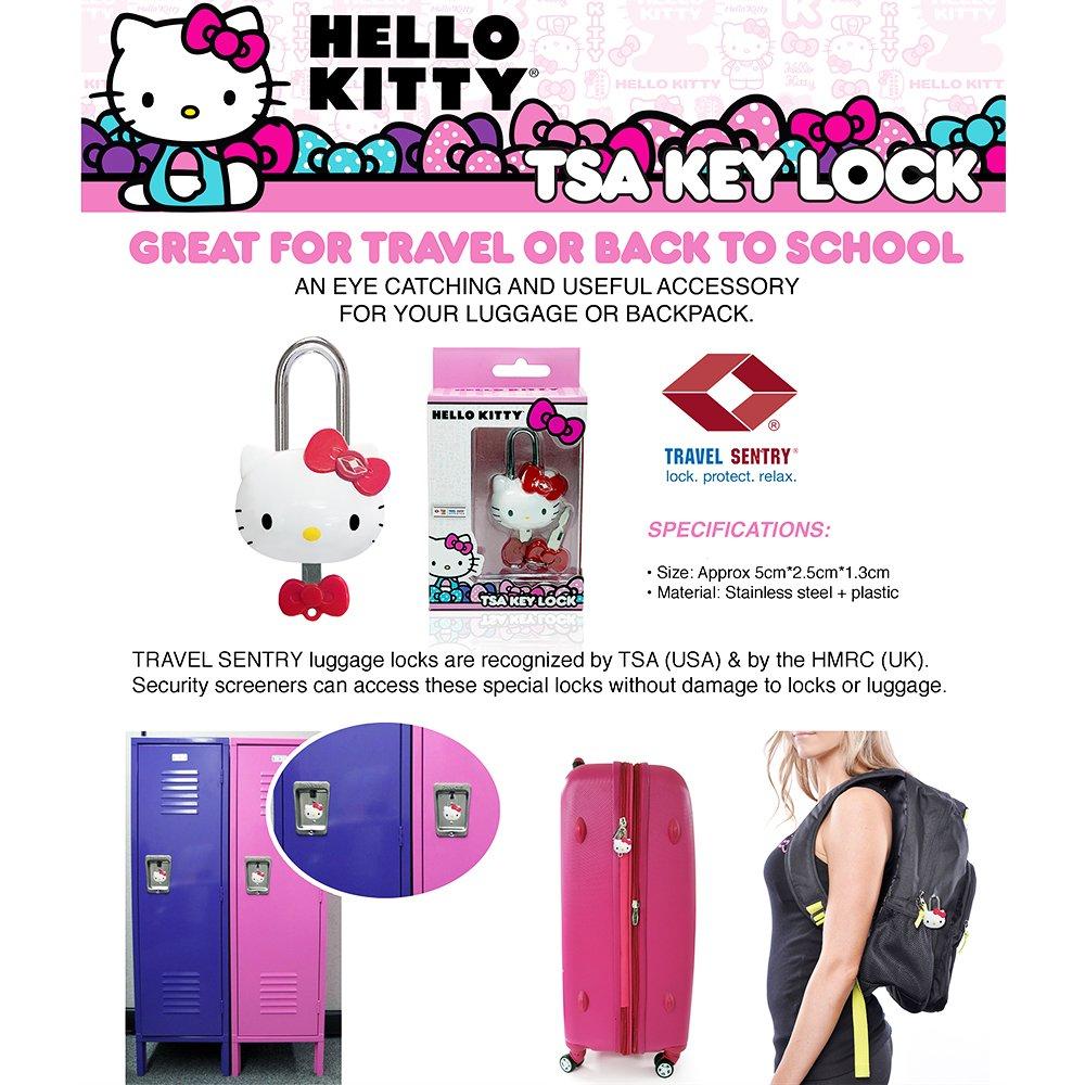Amazon.com   Hello Kitty TSA Approved Padlock - Girls TSA Keyed Luggage  Lock, 1.5 Inch Wide   Luggage Locks 9f9977790b