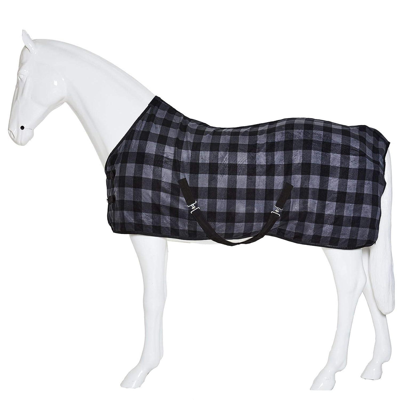 Checkered Field Yard Stable Comfortable Best On Horse Standard Neck Fleece