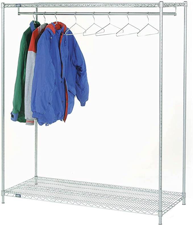 Omega 14 Deep X 24 Wide X 63 High 2 Tier Stationary Chrome Garment Rack Home Kitchen Amazon Com