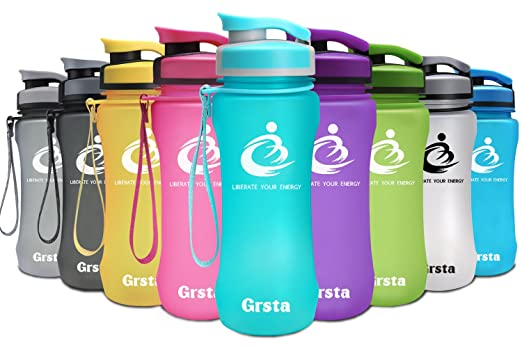 15 opinioni per Grsta bottiglia d'acqua sportiva- 1 litro & 600ml borraccia sportiva, a prova di