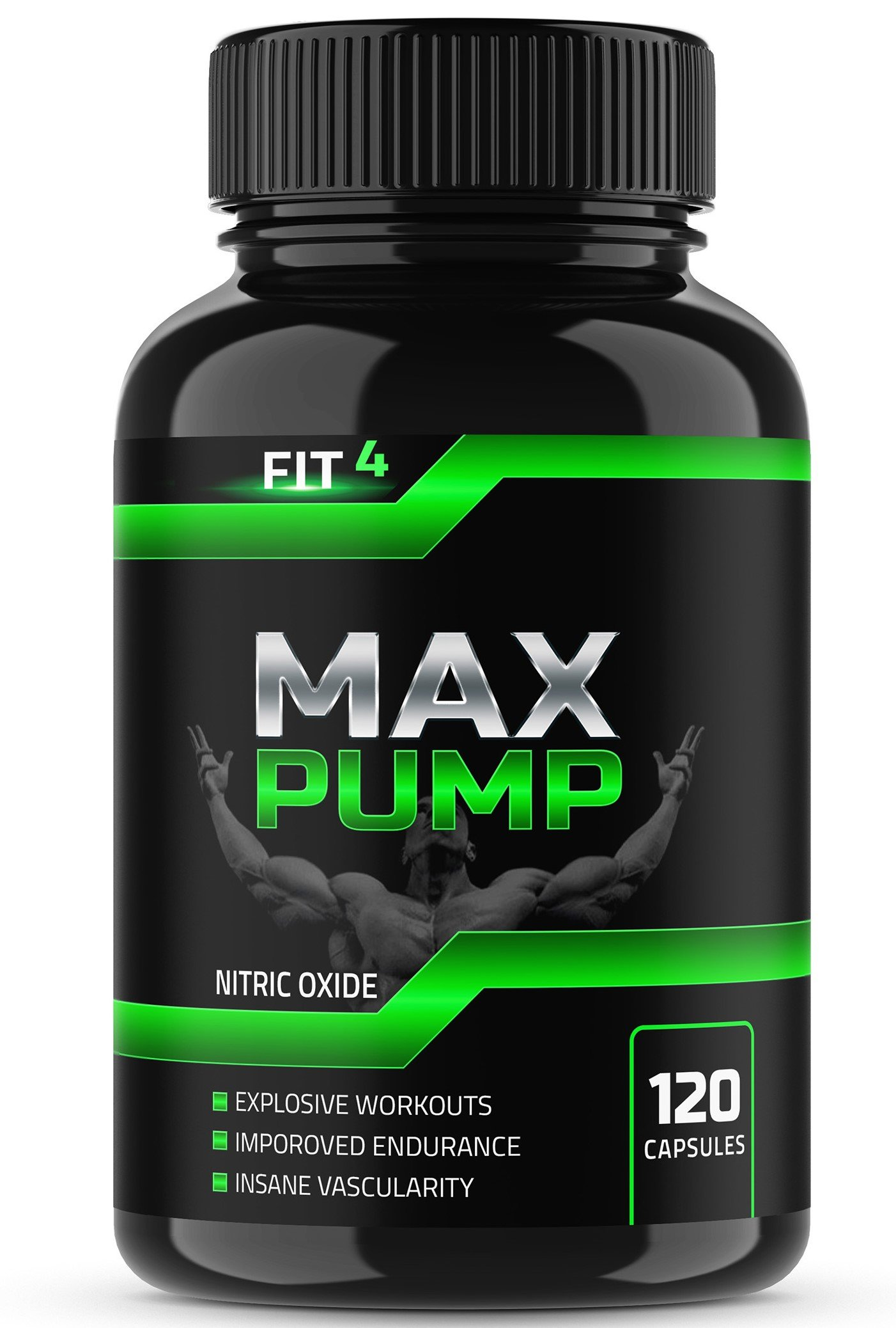 Max Pump, Extra Strength L Arginine ,Nitric Oxide Supplement for Muscle Growth, Vascularity & Energy - Powerful NO Booster Essential Amino Acids To Train Longer & Harder
