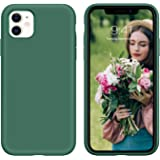 iPhone 11 Case, DUEDUE Liquid Silicone Soft Gel Rubber Slim Cover with Microfiber Cloth Lining Shockproof Full Body Protectiv