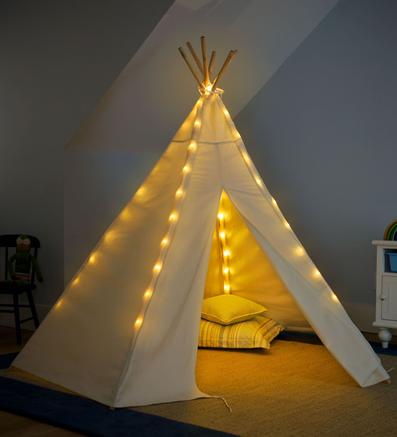 7' Teepee and 7' Teepee Battery-Operated-Lights Special