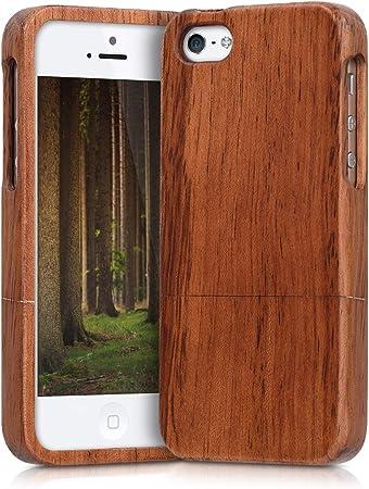 Kwmobile Hülle Kompatibel Mit Apple Iphone Se 1 Gen 2016 5 5s Handy Schutzhülle Aus Holz Cover Handyhülle Braun Elektronik