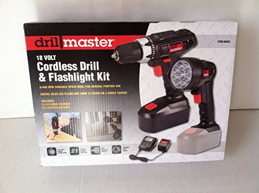 Drill Master 18 Volt Cordless 3/8 In. Drill/Driver And Flashlight Kit by Nicky Nice