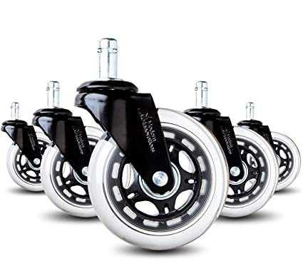 office chair caster wheels rollerblade style heavy duty casters for