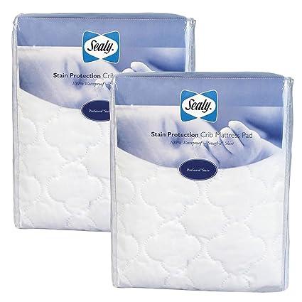 Sealy Protección antimanchas colchón de cuna Pad