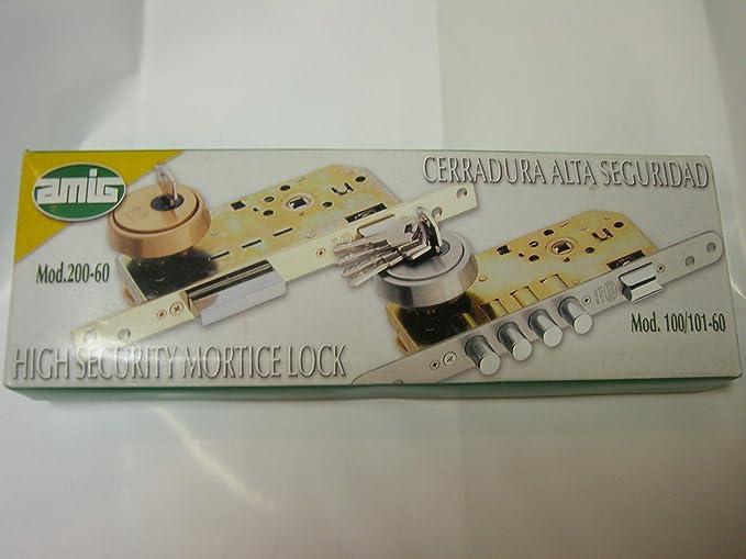 AMIG 10850 - Cerradura 101-60 mm. cromado mate (canto redondo ...