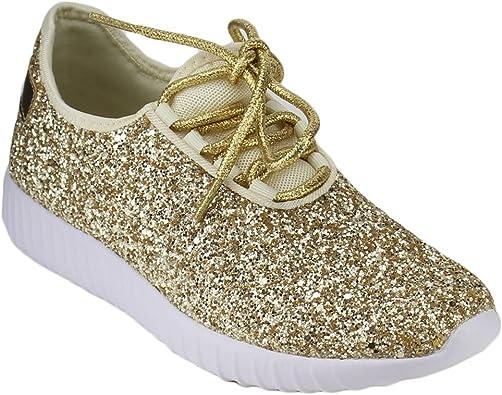 Women Remy-18 (10, Gold) | Fashion Sneakers