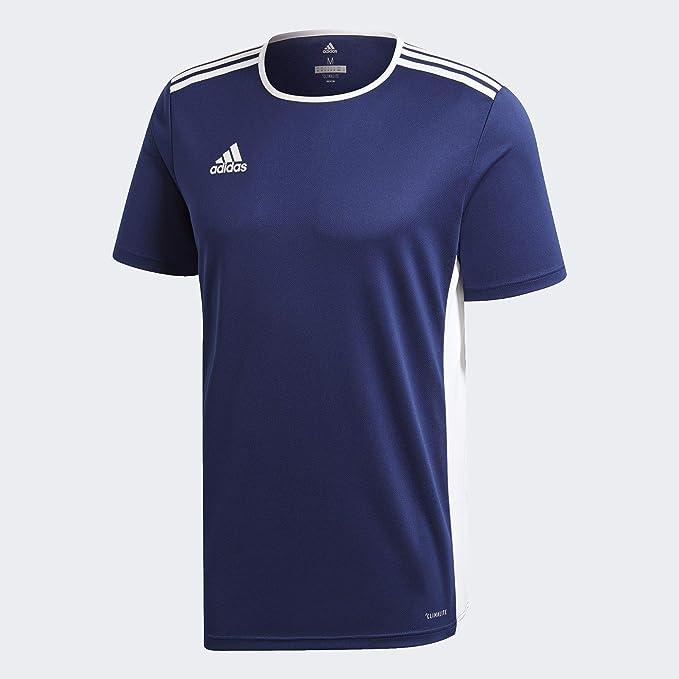 adidas Entrada 39 Camiseta de Fútbol para Hombre de Cuello Redondo en Contraste, Azul (Dark Blue/White), 3XL: Amazon.es: Ropa y accesorios