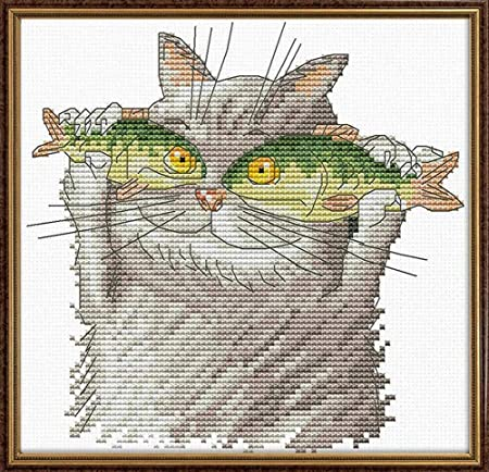 Cross Stitch Kits Pattern Embroidery Kit Needlework Stamped Lovely Cats