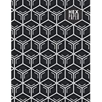 HEX paper: 120 pg 8.5x11 HEX graph paper composition book - Black edition (buttery softcover)