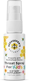 product image for BEEKEEPER'S NATURALS Propolis Throat Spray for Kids - 95% Bee Propolis Extract - Natural Immune Support & Sore Throat Relief- Has Antioxidants & Gluten-Free (1.06 oz) Pack of 1 (Kids)