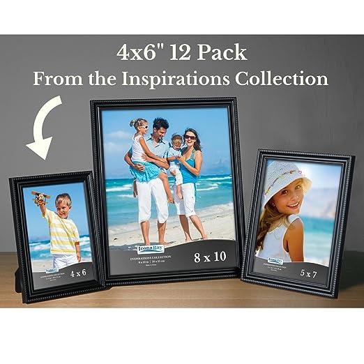 amazon 4x6 12 pack black icona bay black picture frames