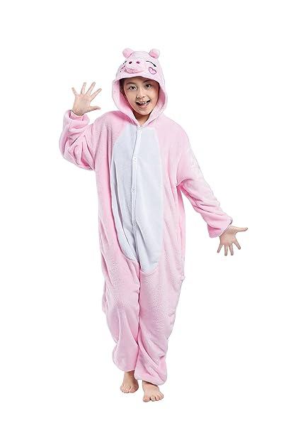 Casa - Pijamas de UnaPieza , Unicornio Niños Kigurumi Unisexo Traje de Disfraz Animal Pyjamas Cosplay