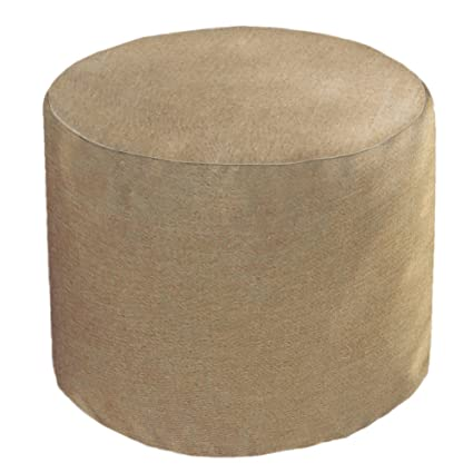 Stupendous Core Covers Outdoor Indoor Sunbrella Round Pouf 22 Sailcloth Space Machost Co Dining Chair Design Ideas Machostcouk