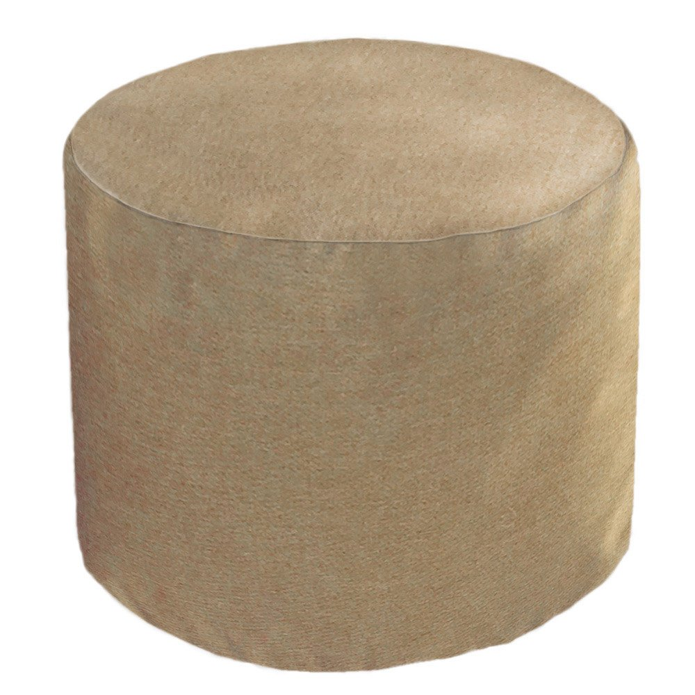 Core Covers Outdoor/Indoor Sunbrella Round Pouf, 22'', Sailcloth Space