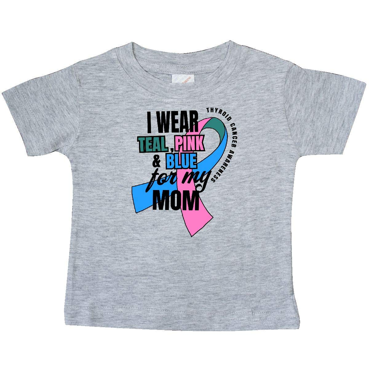 inktastic I Wear Teal Pink and Blue for My Mom Baby T-Shirt