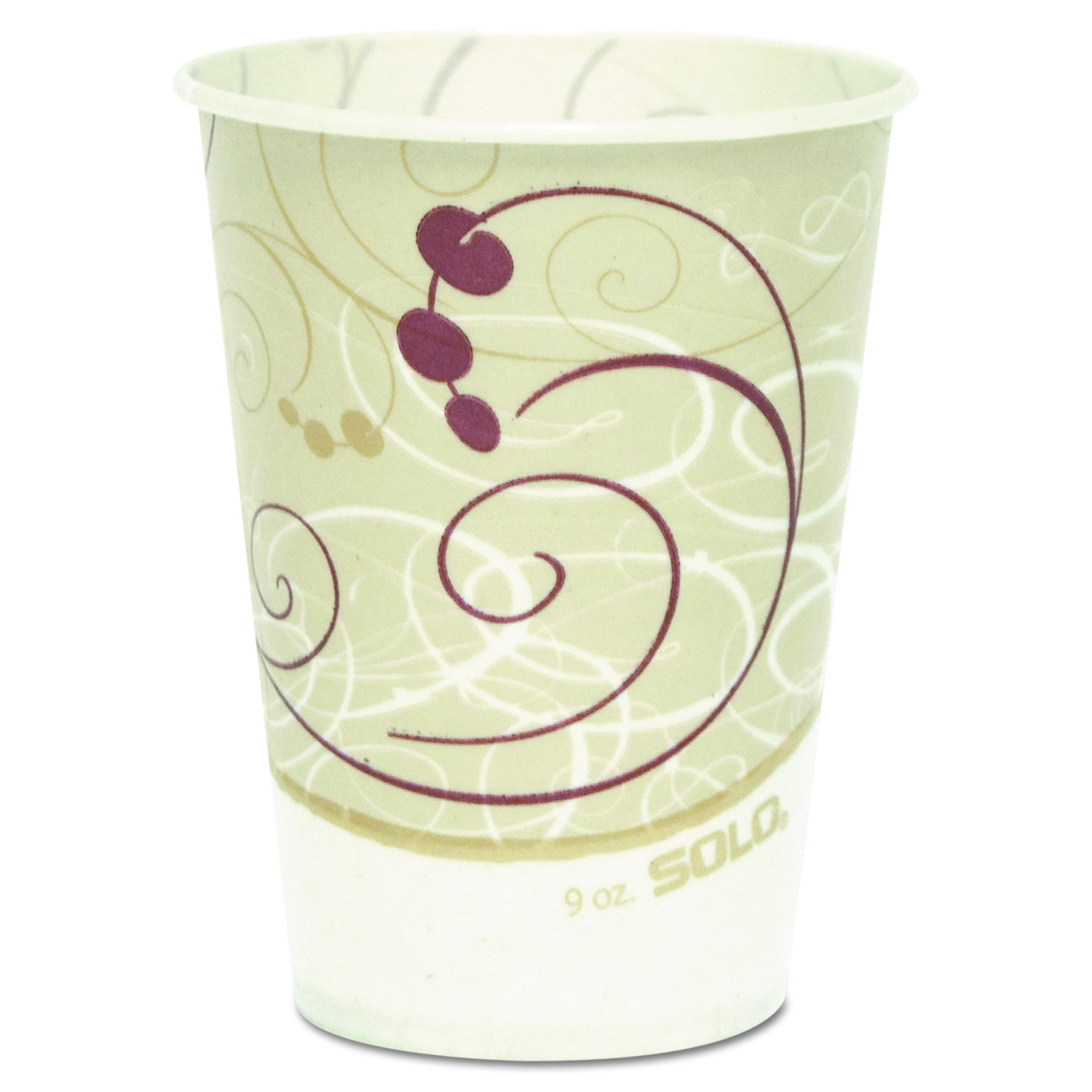 SOLO Cup Company R9NSYM Waxed Paper Cold Cups, 9 oz., Symphony Design (Case of 2,000)