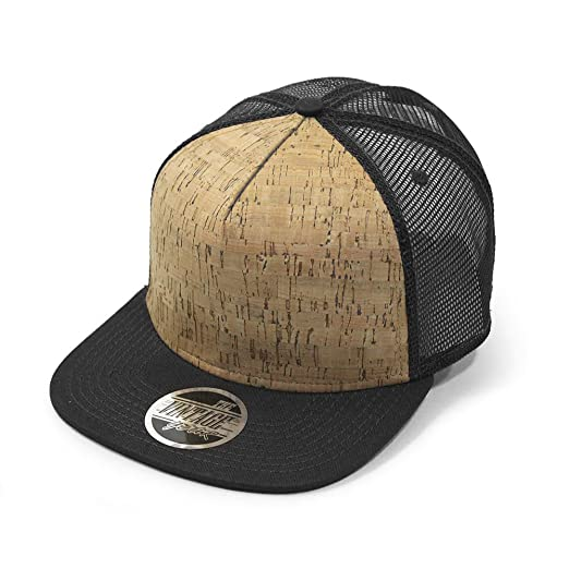 Cork Square Cotton Flat Visor Mesh Adjustable Snapback Baseball Caps (Black) 0f8e2b4bf950