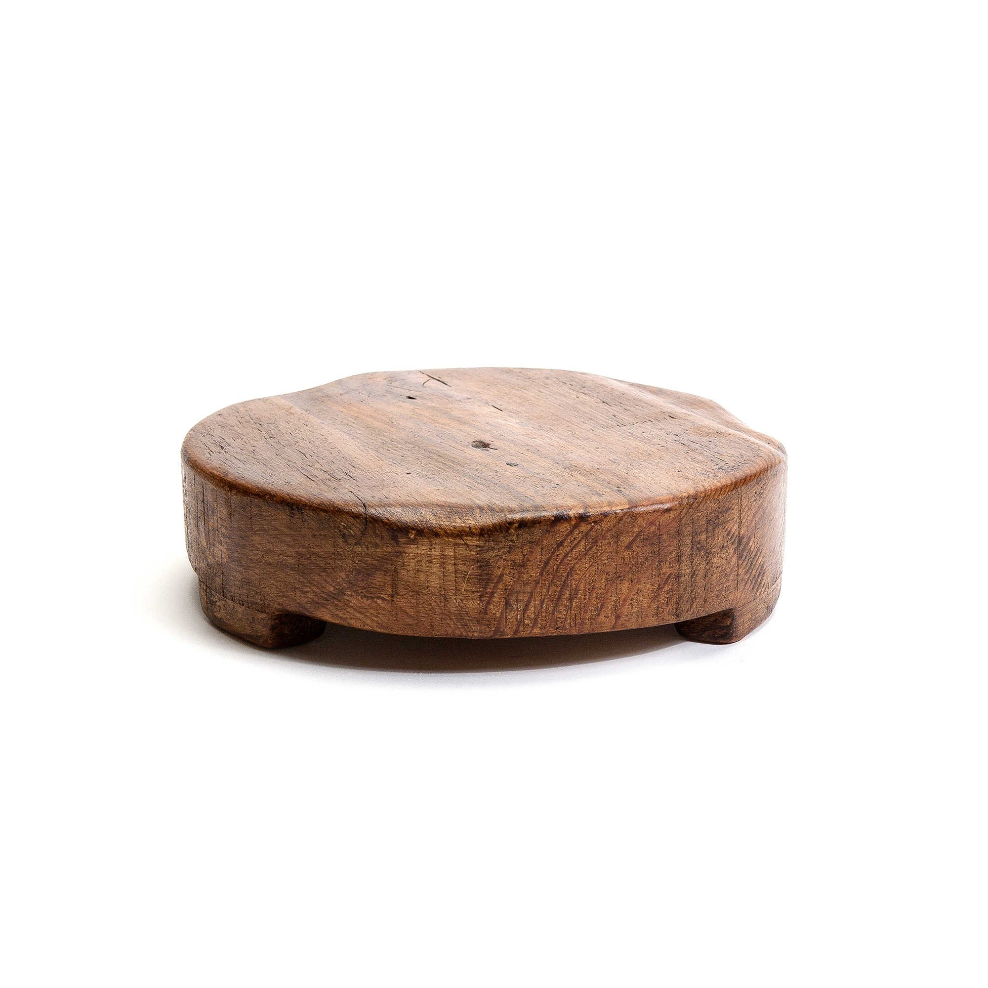 etuHOME 8-Inch Round Reclaimed Wood Trivet by etuHOME®