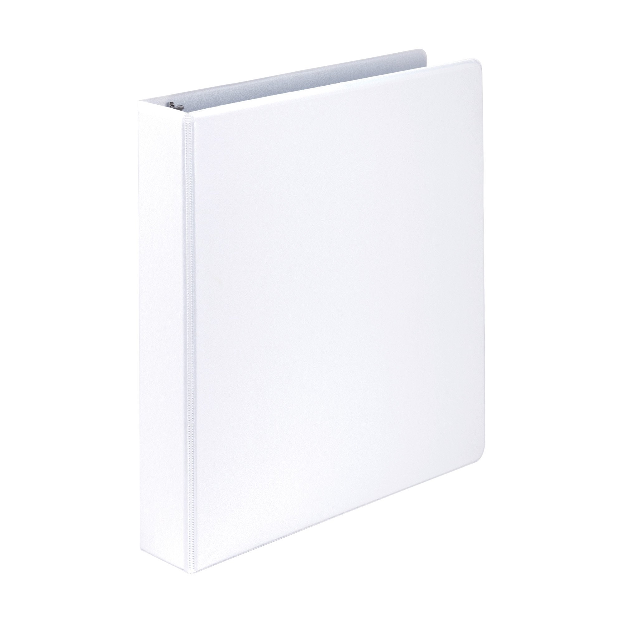 Samsill Economy 3 Ring View Binder, 1.5 Inch Round Ring – Holds 350 Sheets, PVC-Free / Non-Stick Customizable  Cover, White, 12 Pack by Samsill (Image #2)