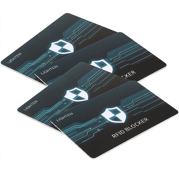 Amazon lighten 4 rfid blocking card wallet protector anti theft lighten 4 rfid blocking card wallet protector anti theft credit debit card protector scan colourmoves