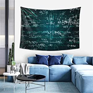 Mathematical Equations And Formulas Tapestry, Trippy Room Decor Wall Art, Geometry Formulas Wall Hanging For Bedroom Home Wall Decorate, 60x40Inch