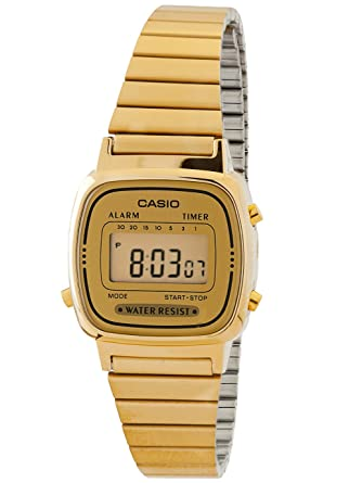 3da9f95eb70 Amazon.com  Casio Women s LA670WGA-9 Gold Stainless-Steel Quartz Watch with  Digital Dial  Casio  Watches