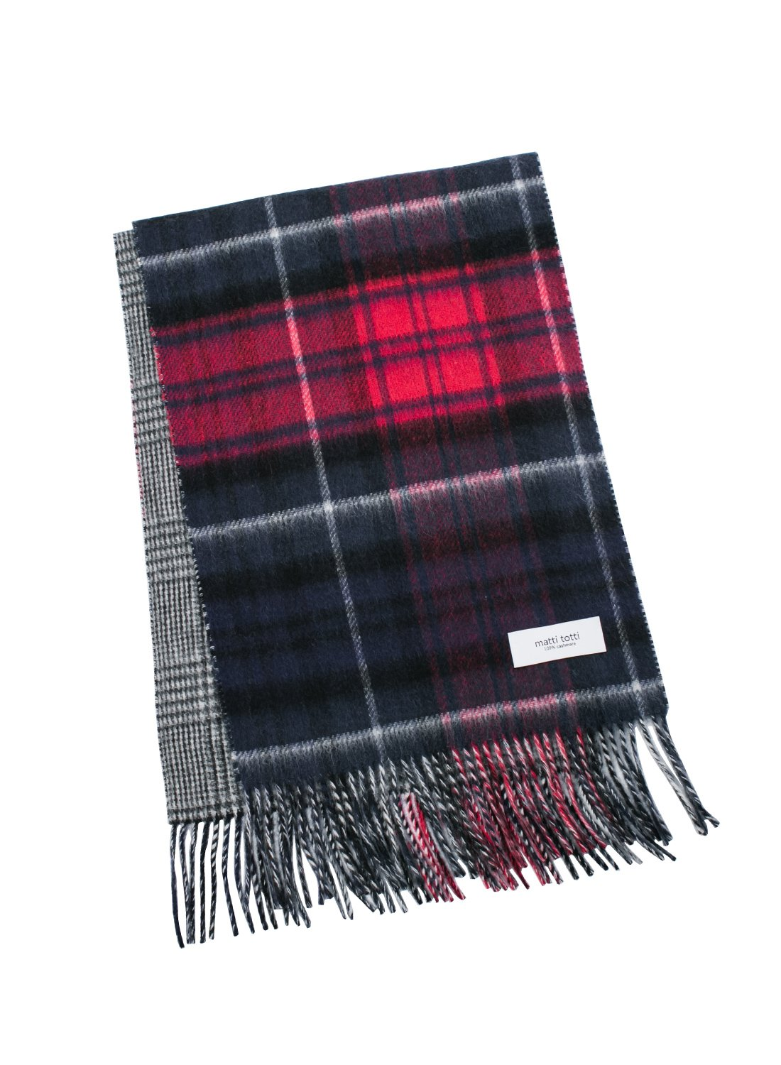 Red X Navy 100% Cashmere Reversible Scarf Muffler Women Gift Scarves Wrap Blanket C0311B1-3