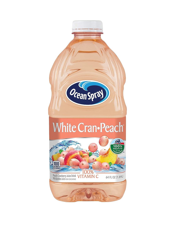 Ocean Spray White Cran-Peach Juice Drink, 64 Ounce Bottle