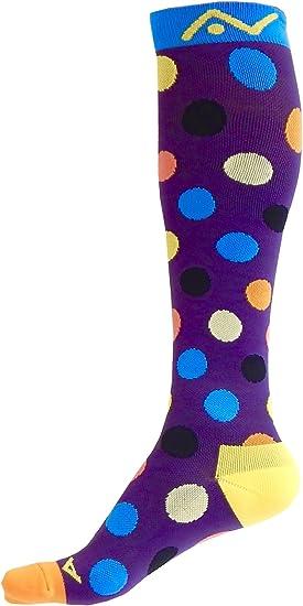 Multi-Colored Polka Dots 8-15 mmHg Graduated Compression Sock