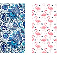 MissRui Microfiber Quick Dry Beach Towel, Large 160x80cm Double-Sided Fast Absorbent Lightweight Sand Free Towels for…