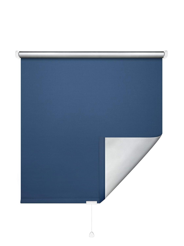 JalousieCrew Verdunklungs-Springrollo Classic ThermGoldllo - Variante Blau Blau Blau Alu - Breiten 062 bis 182 cm - Höhe 175 BZW. 230 cm - Hitzeschutz (162 x 175 cm) B07NWV3BWL Seitenzug- & Springrollos af8d65