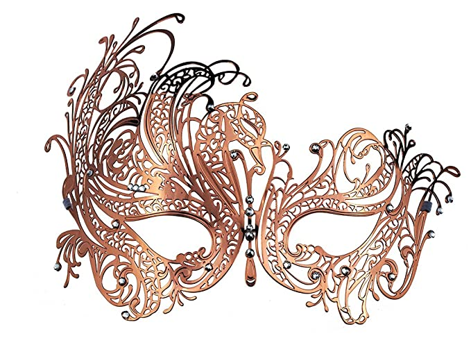 Coddsmz Masquerade Mask Metal Venetian Party Mask with Rhinestones ... aa87491ac