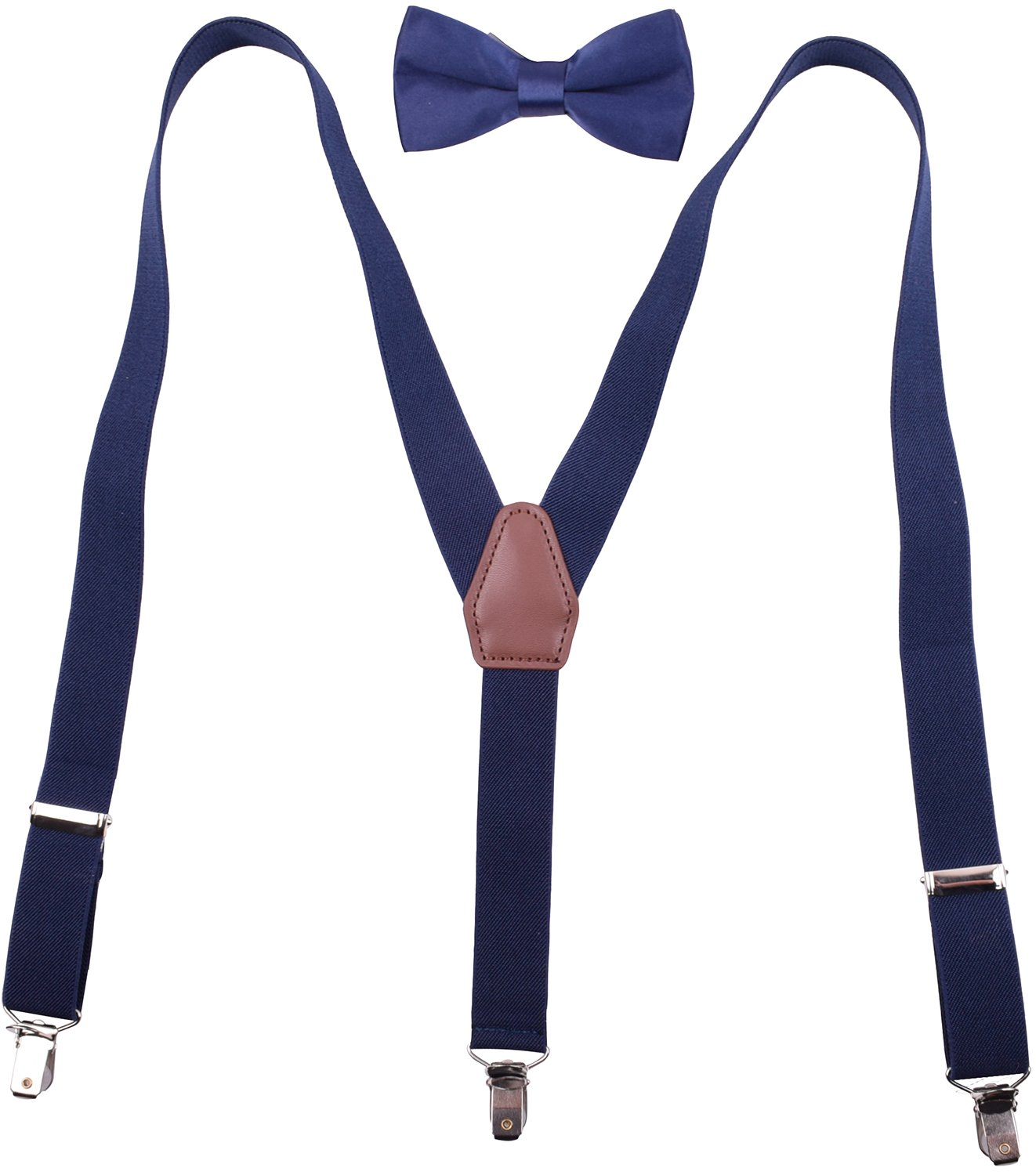 Kids Suspenders and Bow Tie for Party Wedding Y Suspenders for Kids Boys Navy
