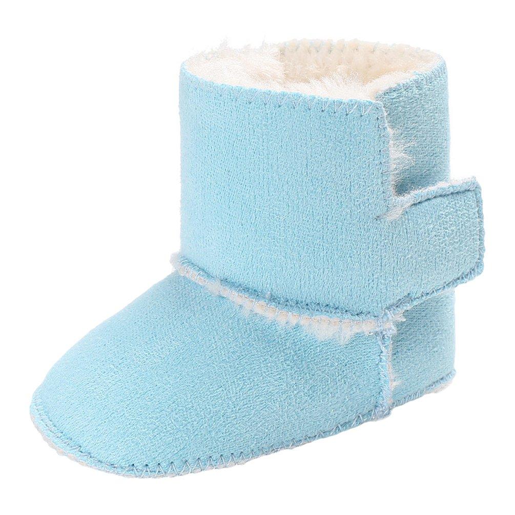 YiJee B/éb/é Enfants Garder au Shaud Bottes de Neige Couleur Unie Antid/érapant Chaussures de Semelles Souples
